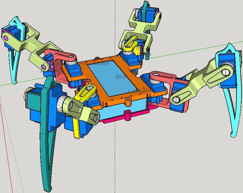 蜘蛛機器人設計圖